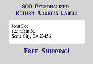 800 Printed Personalized Return Address Labels 1 2 X 1 3 4 Inch