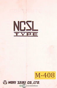 Mori Seiki Sl Nc Type Lathe 53 Page Parts Manual