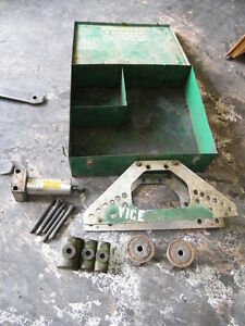 Greenlee Hydraulic Pipe Conduit Bender Model 777 1 1 4 1 2 2 Dies Case Tube