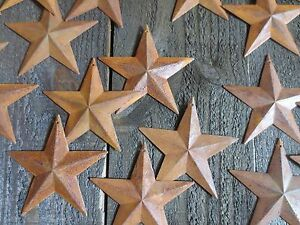 Lot Of 25 Rusty Tin Barn Stars 3 75 Inch 3 3 4 Rusted Primitive Country 3 5 In