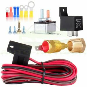 200 Degree Electric Engine Cooling Fan Thermostat Switch Relay Accessories New