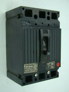 Ge Circuit Breaker 3 Pole 80 Amp Ted134080