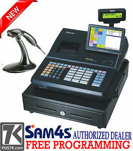 Sam4s Sps 530rt Cash Register With Ms9520 Scanner Pos Sps 530rt