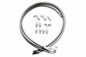 Hydroboost Brake Booster Braided Stainless 4 Line Hose Kit W An Fittings
