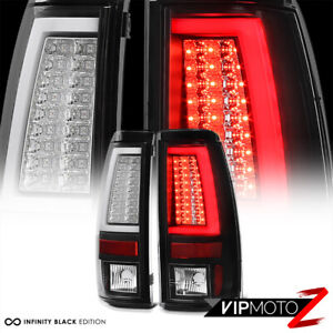 For 03 06 Chevy Silverado 1500 2500 3500hd Oled Neon Tube Black Led Tail Light