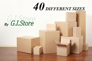 Cardboards Boxes Moving Shipping Packing Storage Delivery Cartons 40 Sizes