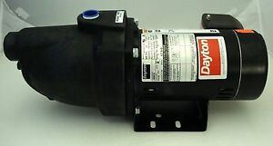 Dayton 3 4 Hp Jet Pump Model 1mmt8 3450 Rpm 230v Shallow Well Water 1 New