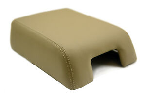 Armrest Center Console Cover Leather Synthetic For 07 17 Ford Expedition Beige