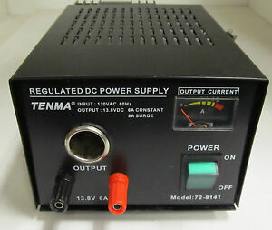 Tenma 72 8141 13 8v 6a Regulated Dc Power Supply