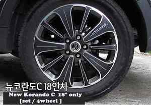 Carbon Tuning Wheel Mask Sticker For Ssangyong New Korando C 18 2013 2015