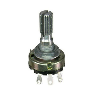 2 Pc 8k Linear Taper Potentiometer With 6mm Split Knurled Shaft
