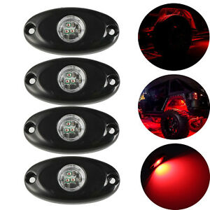 4x 2 Red Cree Led Rock Light For Off Road Underglow Foot Wheel Well Light Truck