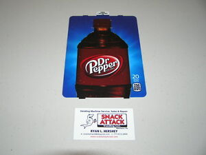 Dixie Narco 501e 276hv Soda Vending Machine dr Pepper 20oz Bottle Vend Label