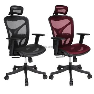 Ergonomic Executive Home Office Chair With Headrest Armrest Mesh Back Gs8d