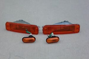 For 90 91 Acura Integra Da Db Amber Bumper Light Blinker Parking Side Markers