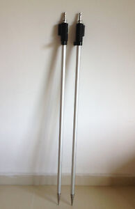 New 2pcs 2 15m Prism Pole For Leica Total Station Prism Swiss style Tip