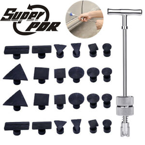 Pdr Slide Hammer Puller Paintless Dent Repair 10pc Glue Tabs Hail Removal Tools