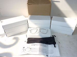 Lot Of 10 Uvex Xc Safety Glasses Prescription Insert New