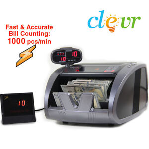 Bill Counter Machine Cash Bank Counting Fake Money Counterfeit Detector