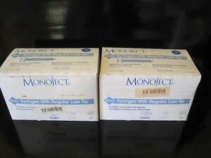 Monoject 6ccc Syringes With Regular Luer Tip Latex Free 8881 516911 Lot Of 99
