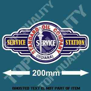 Vintage Standard Oil Service Station Decal Retro Sticker Petrol Hot Rod Stickers