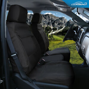 Chevrolet Silverado Tailored Cordura Ballistic Front Seat Covers From Coverking