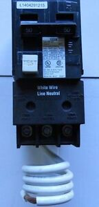 Murray Siemens Mp250gt Qf250 Gfci 2 pole 50 Amp Ground Fault Circuit Breaker