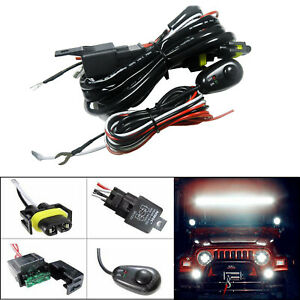 H11 H8 Relay Harness Wire Kit Led On Off Switch For Fog Lights Hid Worklamp