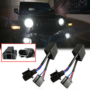 H4 To H13 Jeep Wrangler Jk Anti Flicker Decoders For Any 7 Round Led Headlight