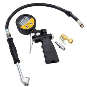 Digital Tire Inflator Pressure Gauge Lcd Display 0 230 Psi 0 18 Bar 0 1800kpa