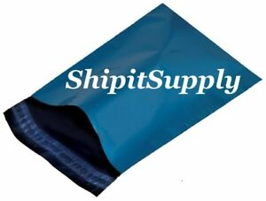1 1000 10x13 Blue Color Poly Mailers Shipping Boutique Bags Fast Shipping