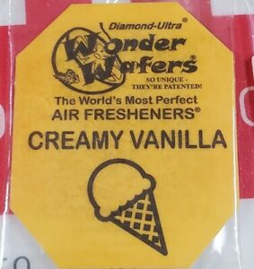 16 Wonder Wafers Creamy Vanilla Scent amazingly Fresh Air Freshener Home Car