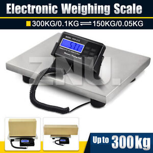 Newest Lcd Digital Floor Bench Scale Postal Platform Shipping pet 300kg Weigh Ce