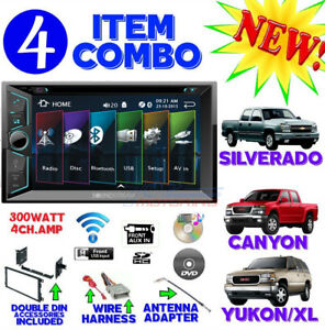 Fits Chevy gmc Truck van suv Cd dvd Bluetooth Radio Stereo Double Din Dash Kit