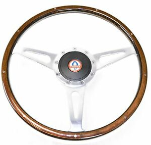 Mustang Steering Wheel Kit Lecarra Style Wood With Cobra Emblem 1965 1966