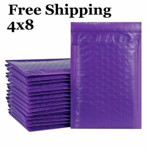 1 500 000 4x8 Poly Purple Color Bubble Padded Bubble Mailers Fast Shipping