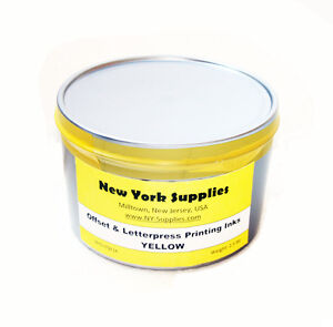 Yellow Offset Letterpress Printing Ink 2 5 Lbs