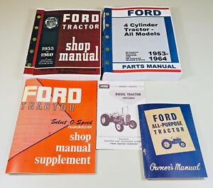 Lot Ford 2000 4000 Series Tractor Service Repair Operators Parts Manuals Catalog