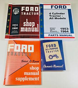 Lot Ford 2000 4000 Series Tractor Service Repair Operators Parts Manuals Gas