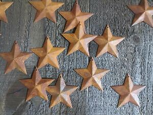 Lot 100 Rusty Barn Stars 2 25 Inch Primitive Country Rusted Tin Metal Americana