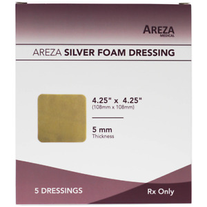 Silver Foam 4 25 X 4 25 no Adhesives 25 Dressings Healthcare Package
