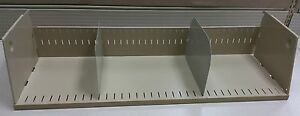 3 Used Shelves 36 Wide 2 Dividers 6 Tall For Cubicle partition workstation