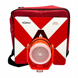 New Red Sokkia Target Single Tilt Prism W bag For Sokkia Total Stations