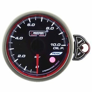 Prosport 52mm Premier White Blue Amber Led Oil Pressure Gauge Bar