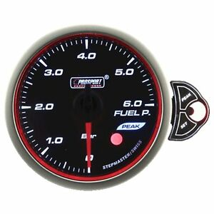 Prosport 52mm Premier White Blue Amber Led Fuel Pressure Gauge Bar