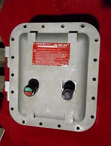 Adalet Xce 081004 n4 Explosion proof Control Size 1 Starter 10hp Start stop New