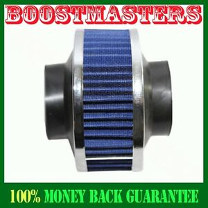 Universal 3 Performance Cold Air Intake Bypass Filter Valve Pipe Rubber Blue