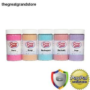 Cotton Candy Floss Sugar Maker Machine Tasty Set Of 5 Flavor Fun Party Kid Gift
