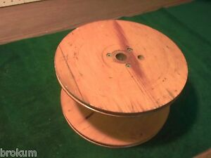 Large Old Wood Industrial Textile Spool From Weaving Mill 10 Diam X 5 Tall