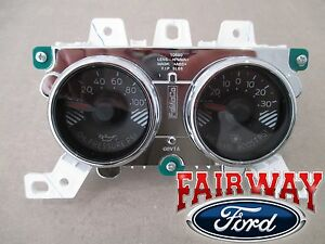 15 Thru 17 Mustang Oem Genuine Ford Boost Oil Pressure Gauge Dash Cluster Pod